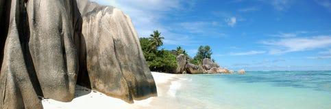 La Digue in Seychellen Stockfotos