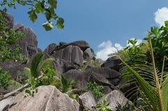 La Digue Seychellerna Fotografering för Bildbyråer