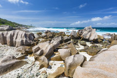 La Digue South Coast, Seychelles Stock Images