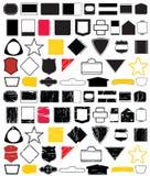 La dimensión de una variable de la insignia diseña No.2 Stock de ilustración