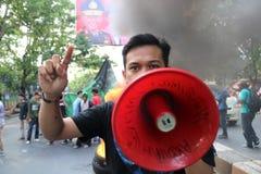 La dimostrazione di studente di Ujung Pandang ha criticato i quattro anni di immagini stock libere da diritti