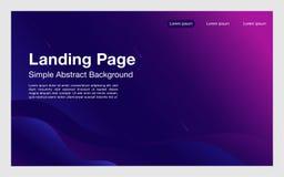 La dinamica geometrica d'atterraggio del fondo di progettazione semplice della pagina modella la pagina composition_modern illustrazione di stock