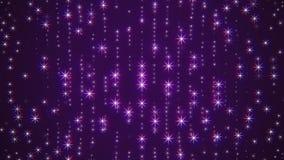 La dinamica universale d'ardore di moto della parete dei fiocchi di neve della stella di lampeggiamento di Natale di animazione q illustrazione vettoriale