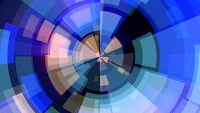 La dinamica universale di moto di colore del cerchio del blocchetto del fondo del ciclo qualità senza cuciture commovente astratt royalty illustrazione gratis