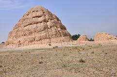 Tombe imperiali di Xia occidentale Fotografia Stock Libera da Diritti