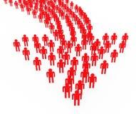 La dirección de la sinergia de la gente representa a Team Work And Authority stock de ilustración