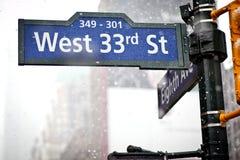 La dirección señal adentro Nueva York Fotos de archivo libres de regalías