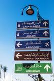 La direction signal dedans Marrakech Images libres de droits