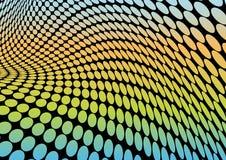 La disco colorée pointille l'illustration de vecteur Photographie stock libre de droits