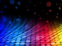 La disco ondule sur le fond noir Images libres de droits