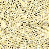 La discoteca dell'oro di vettore accende il fondo Concetto dorato rotondo del mosaico Fotografia Stock