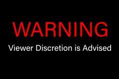 La discrétion d'avertissement de visionneuse est signe conseillé Photo libre de droits