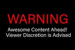 La discrétion satisfaite impressionnante d'avertissement de visionneuse est conseillée Photo stock