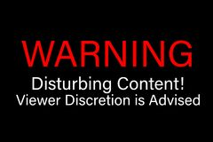 La discrétion satisfaite inquiétante de avertissement de visionneuse est conseillée Photo stock