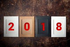 La disposición de las figuras por el Año Nuevo próximo 04 Fotografía de archivo libre de regalías
