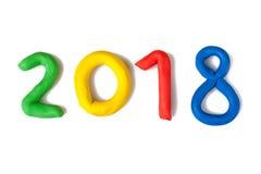 La disposición de las figuras por el Año Nuevo próximo 01 Fotos de archivo libres de regalías