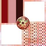 La disposición de paginación gitana bohemia del álbum del libro de recuerdos del estilo 8x8 avanza a poquitos Fotografía de archivo libre de regalías