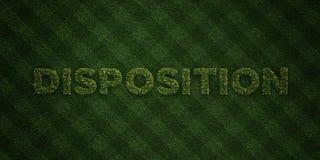 La DISPOSICIÓN - letras frescas de la hierba con las flores y los dientes de león - 3D rindió imagen común libre de los derechos Fotografía de archivo