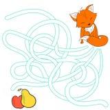 La disposición para el laberinto del juego encuentra un zorro de la manera ilustración del vector