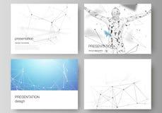 La disposition abstraite minimalistic de vecteur des glissières de présentation conçoivent des calibres d'affaires Technologie, l illustration de vecteur