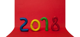 La disposition des chiffres pour la nouvelle année suivante 01 Photos stock
