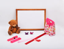 La disposition objecte sur le sujet - jour du ` s de Valentine images libres de droits