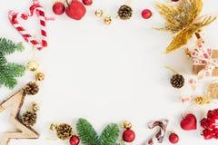 La disposizione del piano di Natale ha disegnato la scena Fotografie Stock Libere da Diritti