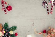 La disposizione del piano di Natale ha disegnato la scena Immagine Stock Libera da Diritti