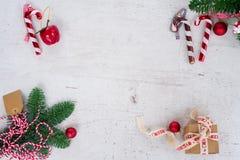 La disposizione del piano di Natale ha disegnato la scena Fotografia Stock