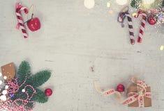 La disposizione del piano di Natale ha disegnato la scena Immagini Stock Libere da Diritti