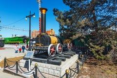 La disposizione della prima locomotiva a vapore russa Cherepanov 18 Fotografia Stock