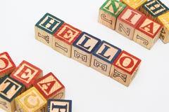 La disposizione delle lettere forma una parola, la versione 12 Fotografie Stock