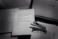 La dissertation trimestrielle Photographie stock