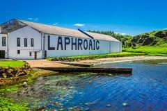 La distilleria di Laphroaig fotografie stock libere da diritti