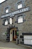 La distilleria Scozia di Oban Immagini Stock Libere da Diritti