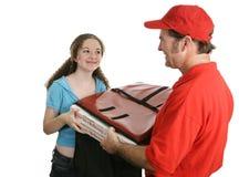 La distribution à la maison de pizza photo stock