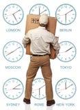 La distribution de fuseau horaire Photographie stock
