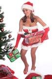 La distribution de Noël Photo libre de droits