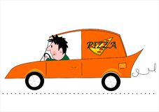 La distribution de pizza Images stock