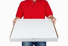 La distribution de pizza Images libres de droits