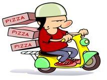 La distribution de pizza Photos libres de droits