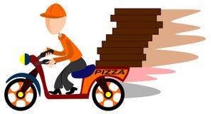 La distribution de scooter de pizza Photo stock