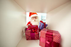 La distribution des cadeaux Photographie stock libre de droits