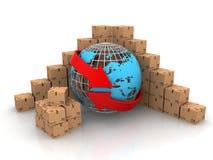 La distribution globale Photo libre de droits