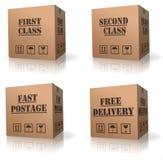 La distribution libre de boîte en carton d'expédition de commande Photos stock