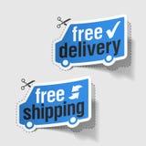 La distribution libre, étiquettes d'expédition libres Photos libres de droits