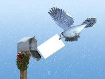La distribution spéciale de vacances : La poste aérienne Photos stock