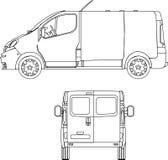 La distribution Van Images stock