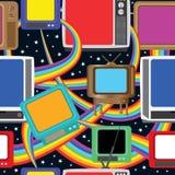 La diversión de la televisión trae a colores Pattern_eps inconsútil stock de ilustración
