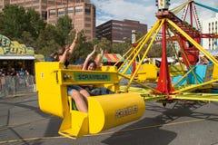 La diversión del niño en un gusto de Colorado Imagen de archivo libre de regalías